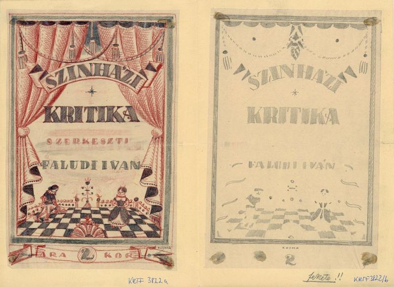 Terv - Színházi Kritika címlapja (Kozma Lajos, 1934)