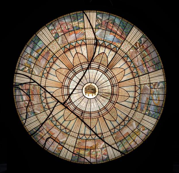Üvegkupola makettje, tervezte Maróti (Rintel) Géza, készítette Róth Miksa, 1913, ltsz. 61.265.1