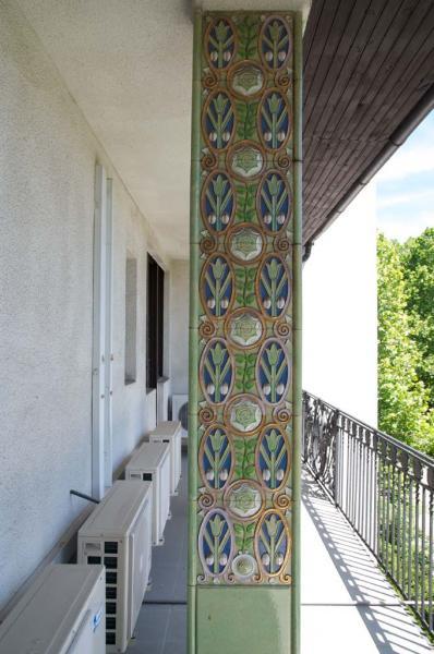 Balcony pillar in Villa Schiffer, 1912, design by József Vágó, photograph inv.no. VLT 391.1.6