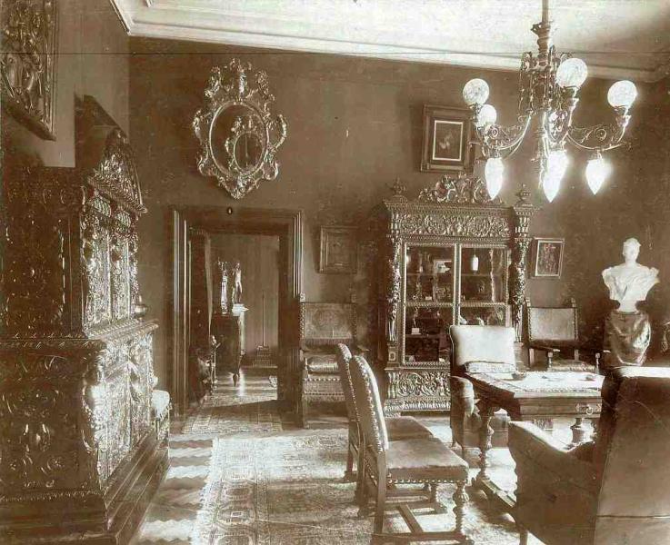 Nagy szalon a Ráth villában, 1906